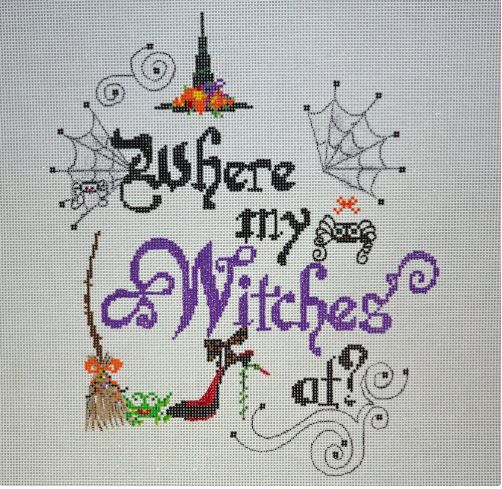 click here to view larger image of Where My Witches At !  (hand painted canvases)