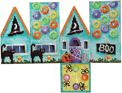 click here to view larger image of Halloween/Cats Cottage (hand painted canvases)