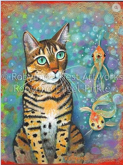 click here to view larger image of Kittys Daydream (hand painted canvases)
