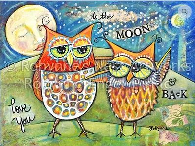 click here to view larger image of Love You to the Moon and Back (hand painted canvases)