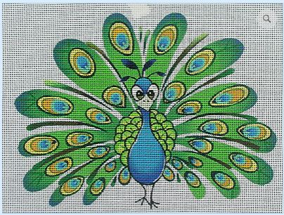 click here to view larger image of Earnie the Peacock (hand painted canvases)