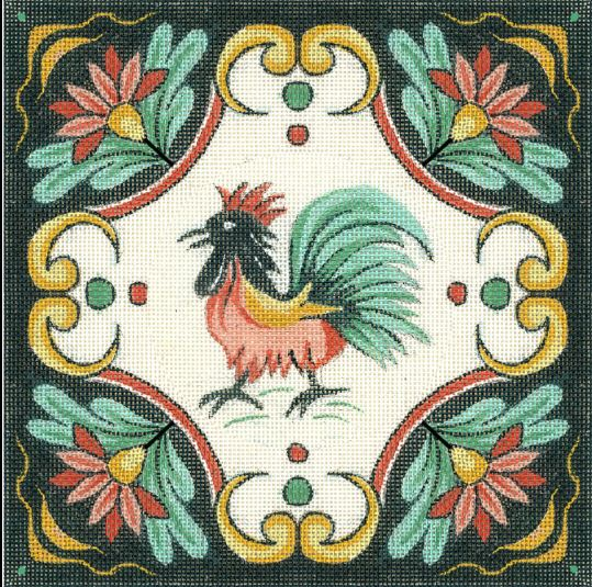 click here to view larger image of Italian Rooster Design (hand painted canvases)