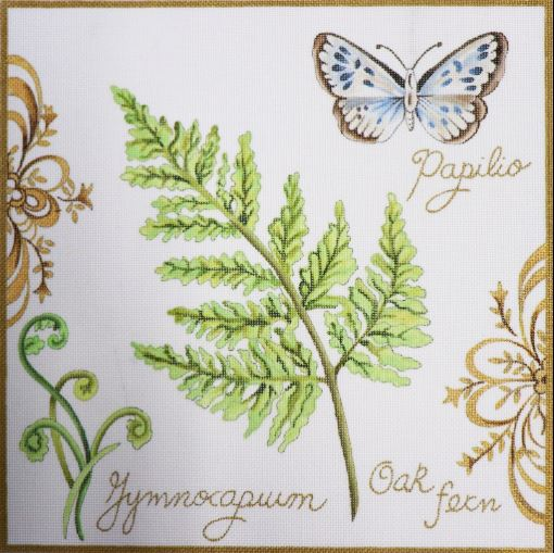 click here to view larger image of Botanical Butterfly (hand painted canvases)
