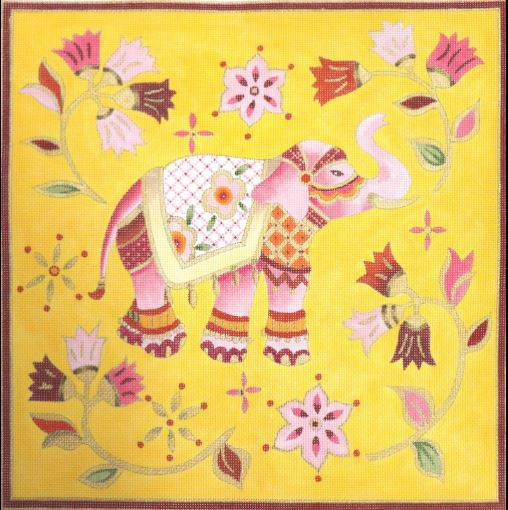 click here to view larger image of Pink Elephant (hand painted canvases)