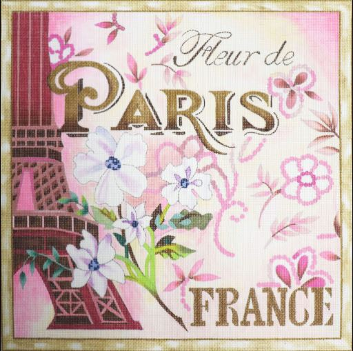 click here to view larger image of Fleur De Paris - France (hand painted canvases)
