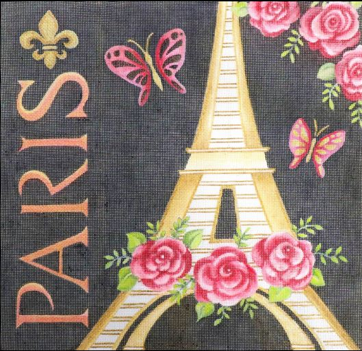 click here to view larger image of Paris Eiffel Tower (hand painted canvases)