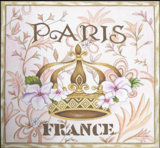 click here to view larger image of Paris Crown (hand painted canvases)