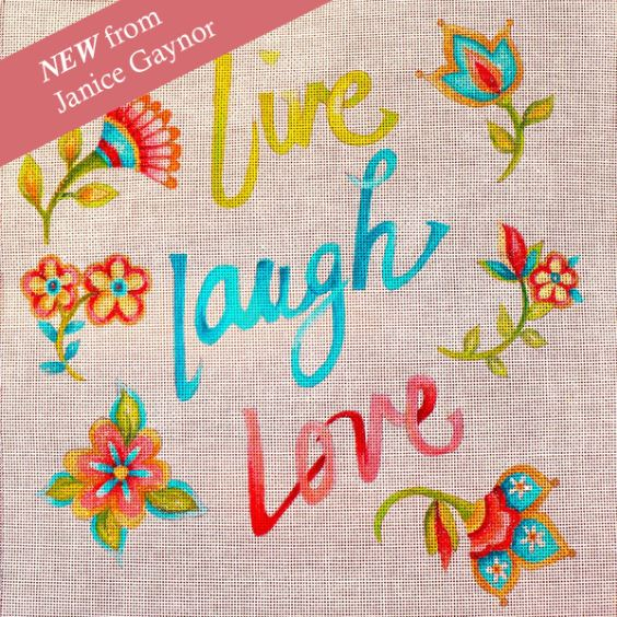 click here to view larger image of Live Laugh Love  (hand painted canvases)