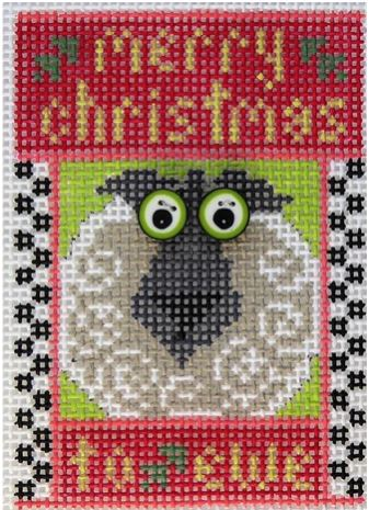 click here to view larger image of Merry Christmas to Ewe (hand painted canvases)