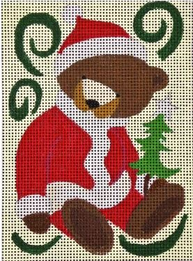 click here to view larger image of Santa Bear (hand painted canvases)