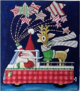 click here to view larger image of North Pole or Bust (hand painted canvases)