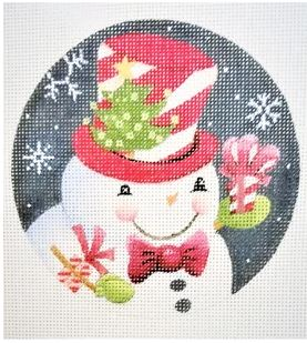 click here to view larger image of Christmas Tree Hat Snowman (hand painted canvases)