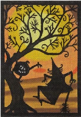 click here to view larger image of Dancing Witch (hand painted canvases)