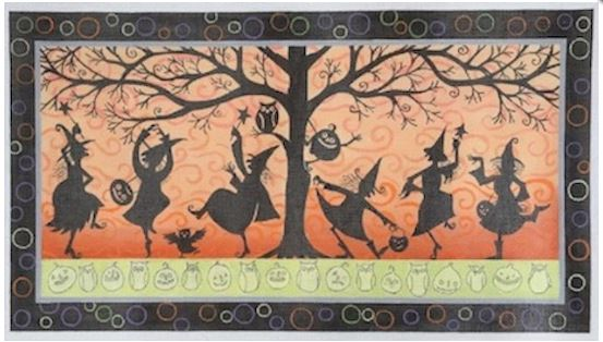 click here to view larger image of Silhowitches (hand painted canvases)