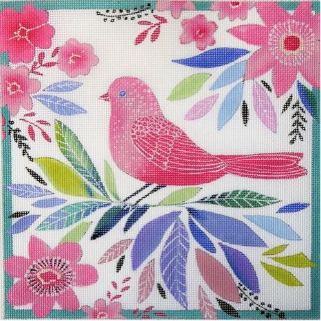 click here to view larger image of Pink Bird (hand painted canvases)