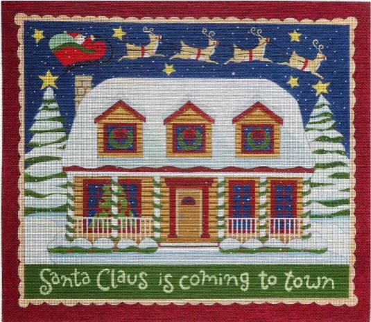 click here to view larger image of Santa Claus is coming to Town (hand painted canvases)
