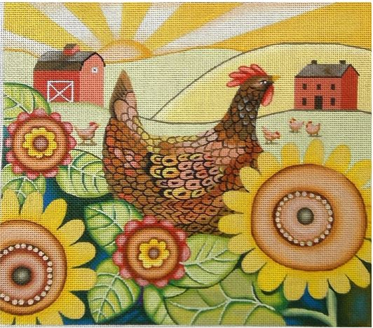 click here to view larger image of Farmers Sunrise (hand painted canvases)