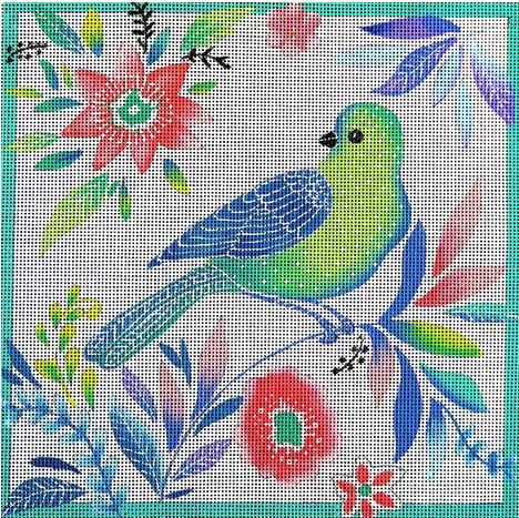 click here to view larger image of Green Bird (hand painted canvases)