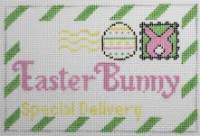 click here to view larger image of Mini Easter Bunny Letter (hand painted canvases)
