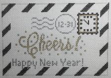 click here to view larger image of Mini New Year Letter (hand painted canvases)