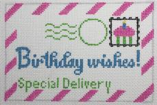 click here to view larger image of Mini Birthday Letter (hand painted canvases)