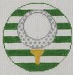 click here to view larger image of Golf - Monogram Round (hand painted canvases)