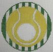 click here to view larger image of Tennis - Monogram Round (hand painted canvases)