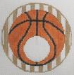 click here to view larger image of Basketball - Monogram Round (hand painted canvases)