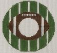 click here to view larger image of Football - Monogram Round (hand painted canvases)