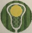 click here to view larger image of Lacrosse - Monogram Round (hand painted canvases)