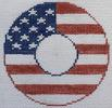 click here to view larger image of Flag - Monogram Round (hand painted canvases)