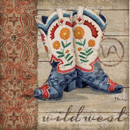 click here to view larger image of Wild West Boots IV (hand painted canvases)