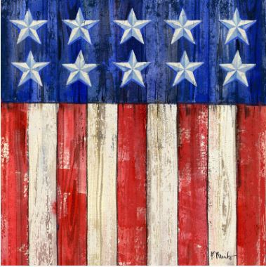 click here to view larger image of All-American Flag II Coaster (hand painted canvases)