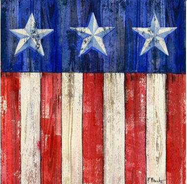 click here to view larger image of All-American Flag IV Coaster (hand painted canvases)