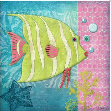 click here to view larger image of Fantasy Reef II (hand painted canvases)