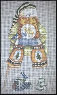 click here to view larger image of Snowglobe Snowman - Standup (hand painted canvases)