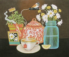 click here to view larger image of Meadow Tea  (hand painted canvases)