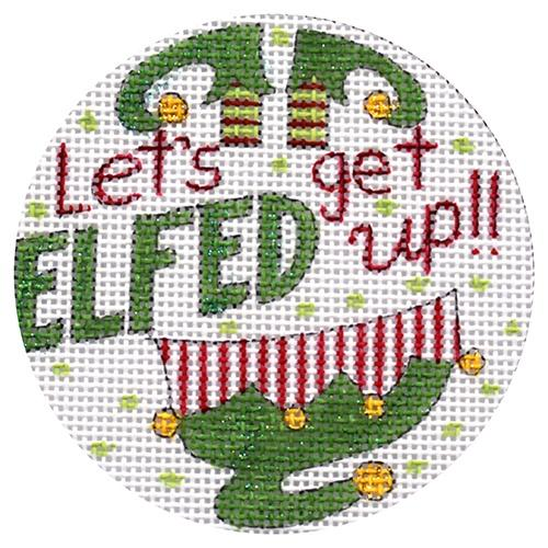 click here to view larger image of Get Elfed Up (hand painted canvases)