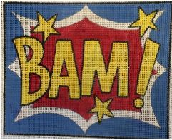 click here to view larger image of BAM ! (hand painted canvases)