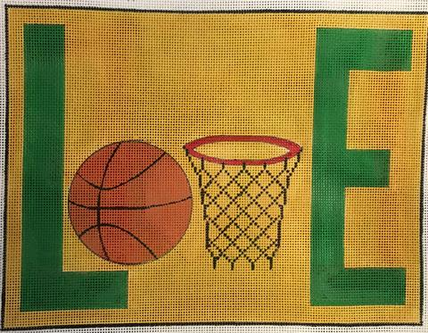 click here to view larger image of LOVE - Basketball (hand painted canvases)