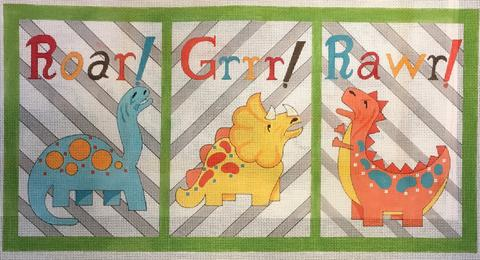 click here to view larger image of Dinosaur Sounds (hand painted canvases)