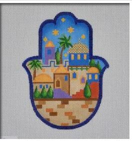 Jerusalem Hamsa hand painted canvases