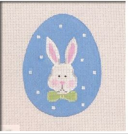 click here to view larger image of Bunny Face Flat Egg (hand painted canvases)