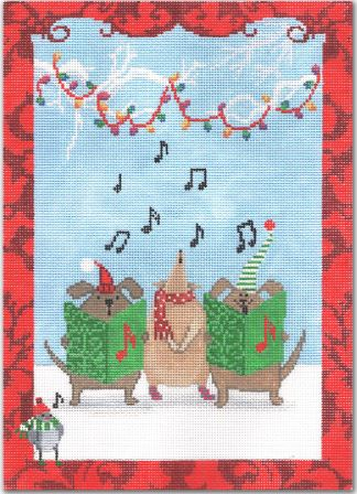 click here to view larger image of Animal Christmas Choir  (hand painted canvases)