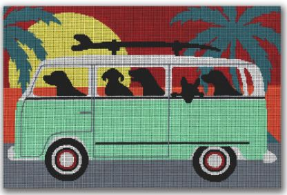 click here to view larger image of Beach Trip (hand painted canvases)