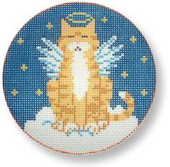 click here to view larger image of Wishful Angel Cat (hand painted canvases)