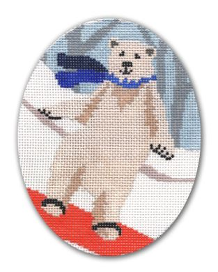 click here to view larger image of Boarding Bear (hand painted canvases)