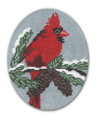 click here to view larger image of Cardinal - Male (hand painted canvases)