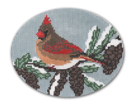 click here to view larger image of Cardinal - Female (hand painted canvases)
