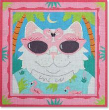 click here to view larger image of Florida Cat (hand painted canvases)